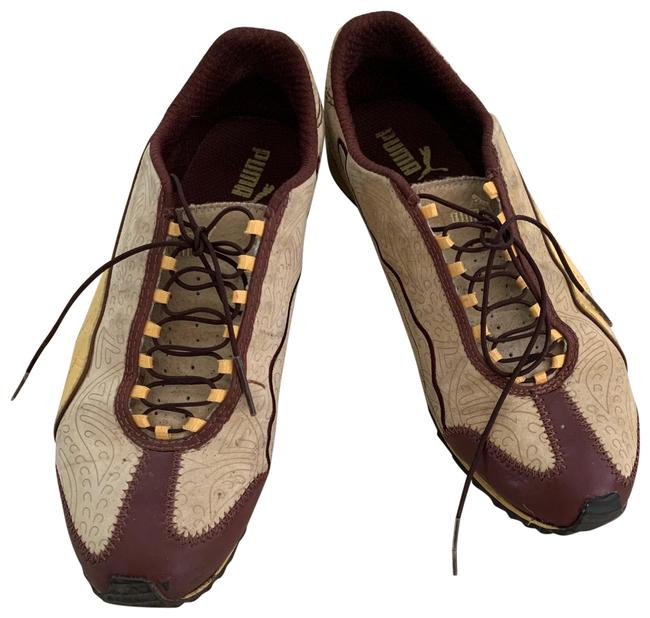 Item - Brown Yellow Sneakers Size US 8 Wide (C, D)