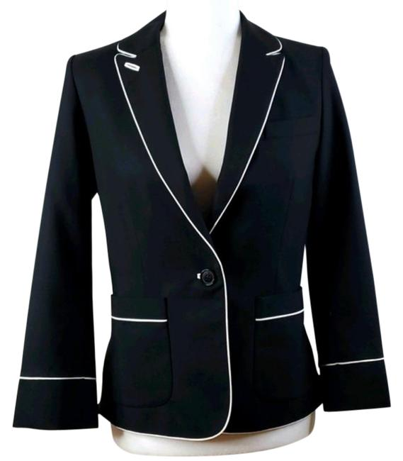 Item - Blue Navy with White Piping Blazer Size 4 (S)