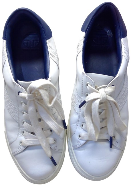 Item - White Leather Sneakers Size US 7 Regular (M, B)