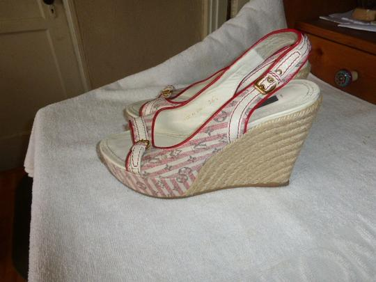 Louis Vuitton WHITE & PINK Wedges Image 2