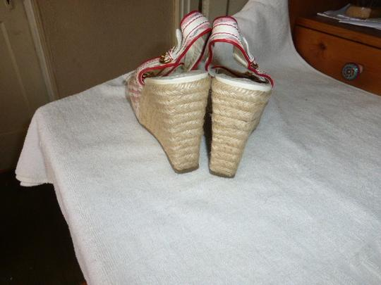 Louis Vuitton WHITE & PINK Wedges