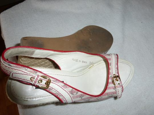 Louis Vuitton WHITE & PINK Wedges Image 8