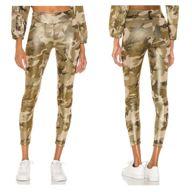 Item - Gold Nwot Pearl High Rise Luxe Camo Shimm Activewear Bottoms Size 2 (XS, 26)