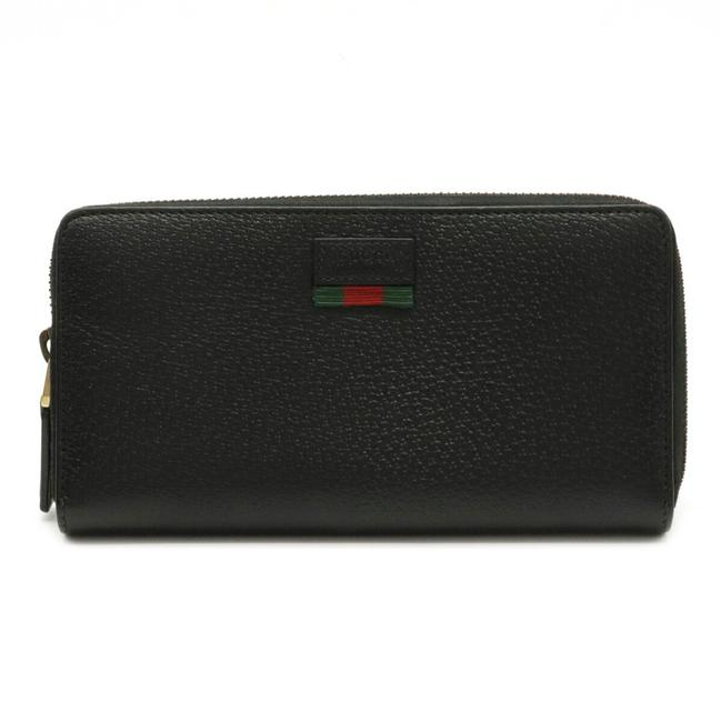 Item - Black / Green / Red Color Agora Dollar Sherry Line Round Zipper Dollar Calf Leather 435298 Wallet