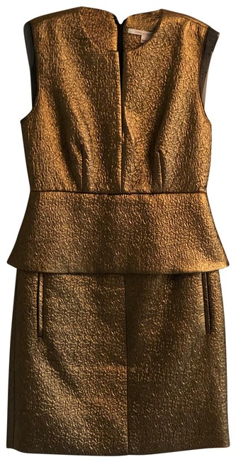 Item - Gold Short Night Out Dress Size 6 (S)