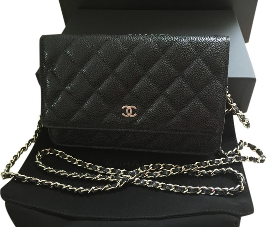 4f1cb3ac471d Chanel NEW Chanel Wallet on Chain WOC Classic Black Caviar Leather with SHW  silver hardware $2490 ...