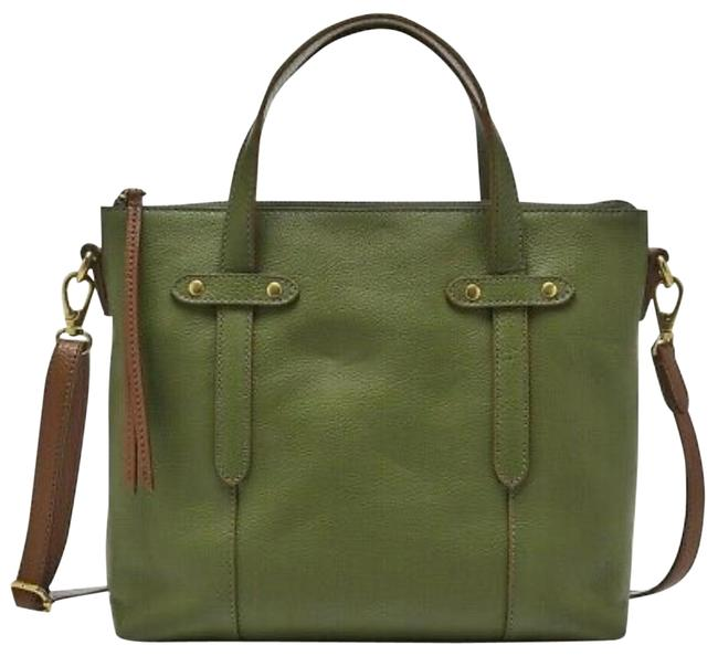 Item - Felicity Chive Green Leather Satchel