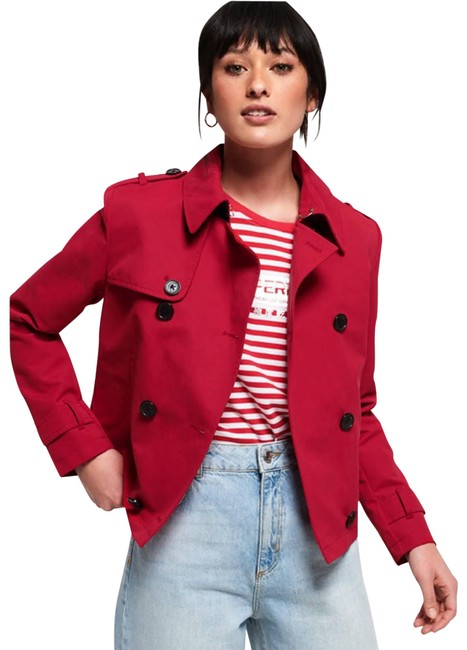 Item - Red Cropped Azure Coat Size 6 (S)