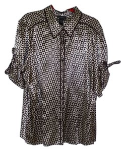 Lane Bryant Top Brown and Tan Print