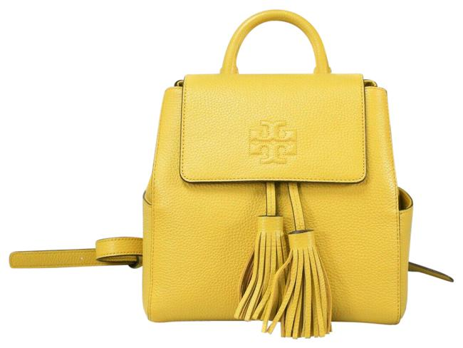Item - Thea (67302)thea Mini Daylily Yellow Pebbled Leather Backpack