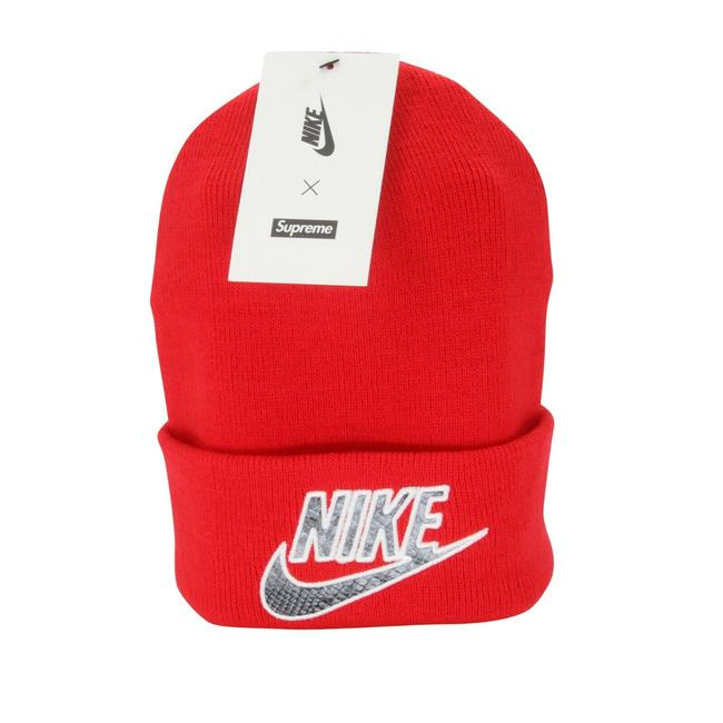 Item - Red Swoosh Snakeskin Beanie Spring 2021 New with Tags Hat