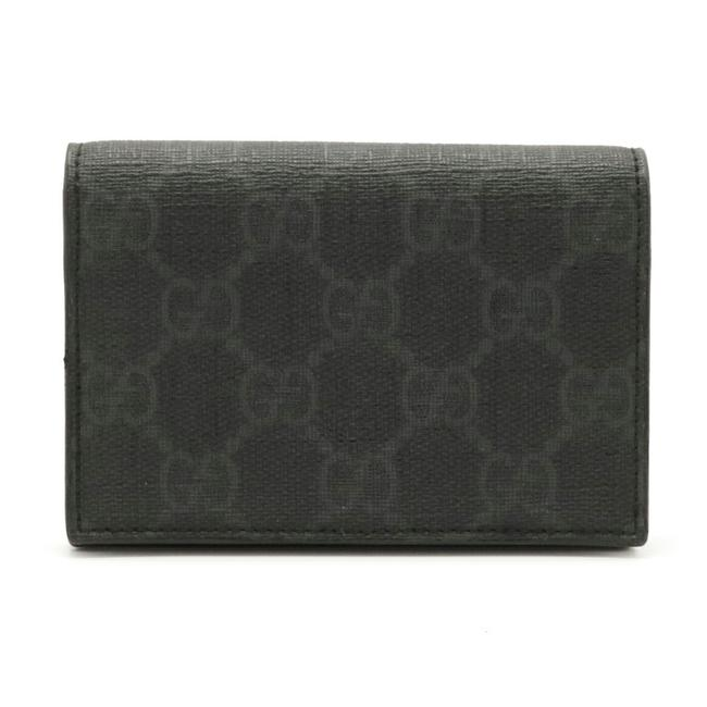 Item - Black / Gray Gg Supreme Card Case Pass Business Holder Pvc Leather 118376 Wallet