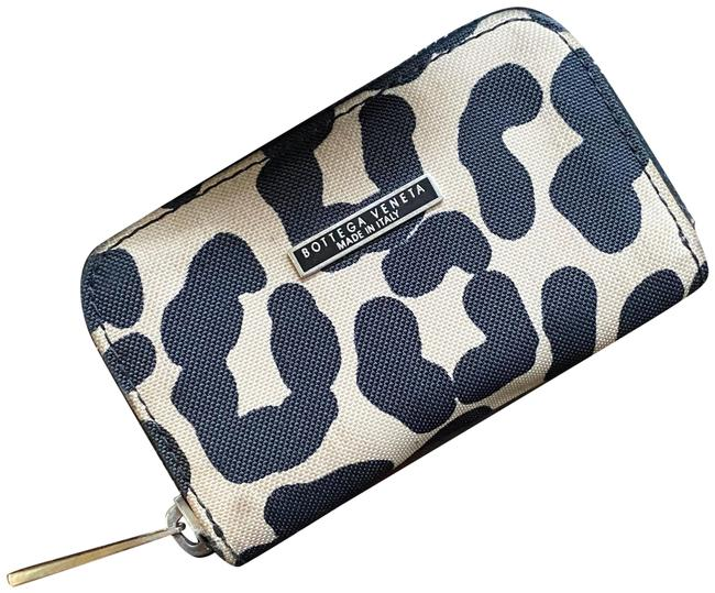 Item - Cream and Black Rare Vintage Cheetah Canvas Gusseted Card Case / Wallet
