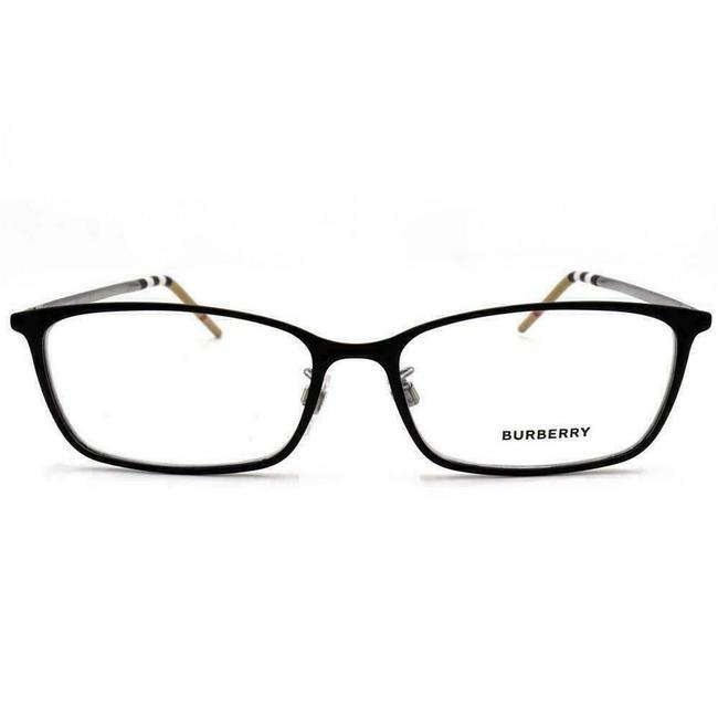 Burberry Black Silver Be 1329-d 1279 Rectangle Eyeglasses Demo Lenses 56mm Burberry Black Silver Be 1329-d 1279 Rectangle Eyeglasses Demo Lenses 56mm Image 2