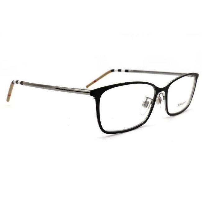 Burberry Black Silver Be 1329-d 1279 Rectangle Eyeglasses Demo Lenses 56mm Burberry Black Silver Be 1329-d 1279 Rectangle Eyeglasses Demo Lenses 56mm Image 3