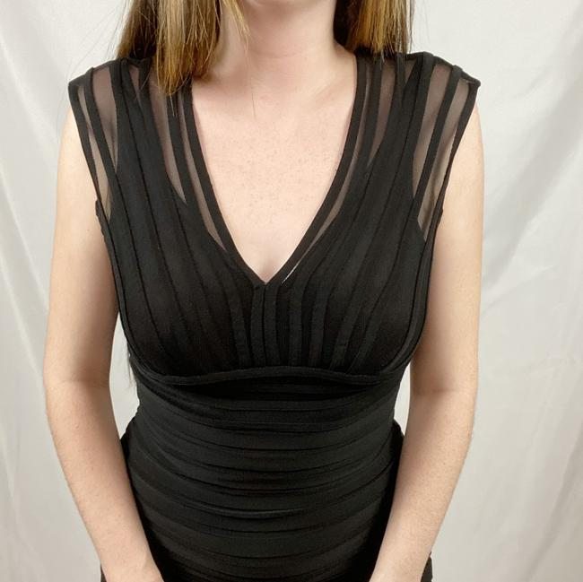 Adrianna Papell Black Short Cocktail Dress Size 4 (S) Adrianna Papell Black Short Cocktail Dress Size 4 (S) Image 2