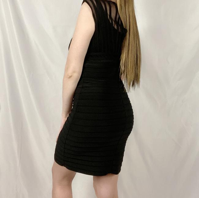 Adrianna Papell Black Short Cocktail Dress Size 4 (S) Adrianna Papell Black Short Cocktail Dress Size 4 (S) Image 3