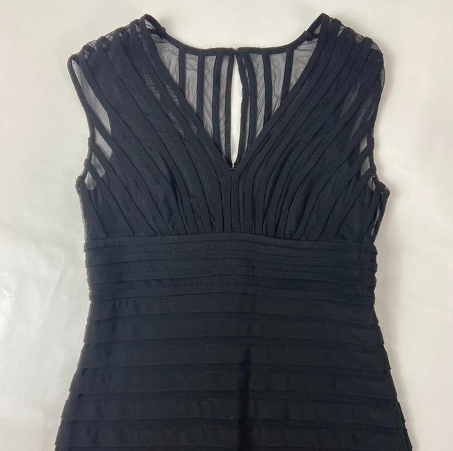 Adrianna Papell Black Short Cocktail Dress Size 4 (S) Adrianna Papell Black Short Cocktail Dress Size 4 (S) Image 4