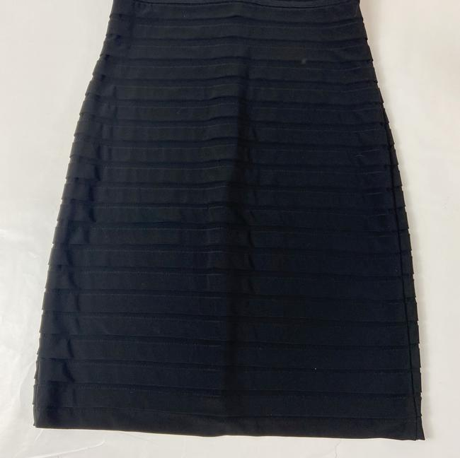 Adrianna Papell Black Short Cocktail Dress Size 4 (S) Adrianna Papell Black Short Cocktail Dress Size 4 (S) Image 5