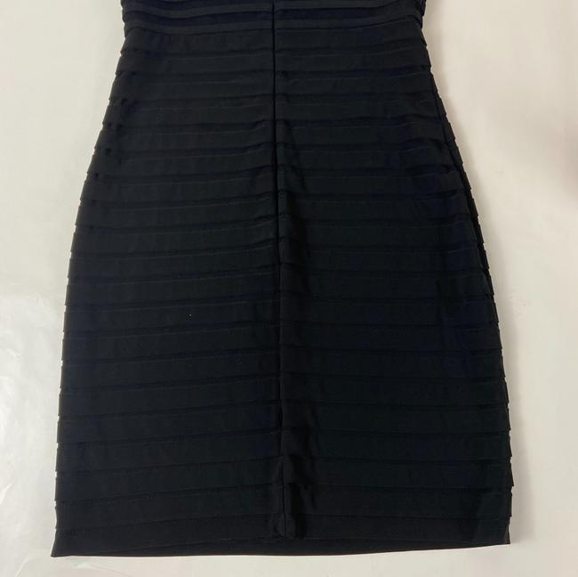 Adrianna Papell Black Short Cocktail Dress Size 4 (S) Adrianna Papell Black Short Cocktail Dress Size 4 (S) Image 7