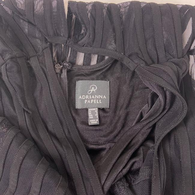 Adrianna Papell Black Short Cocktail Dress Size 4 (S) Adrianna Papell Black Short Cocktail Dress Size 4 (S) Image 8