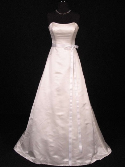Bridal White Ribbon Sash