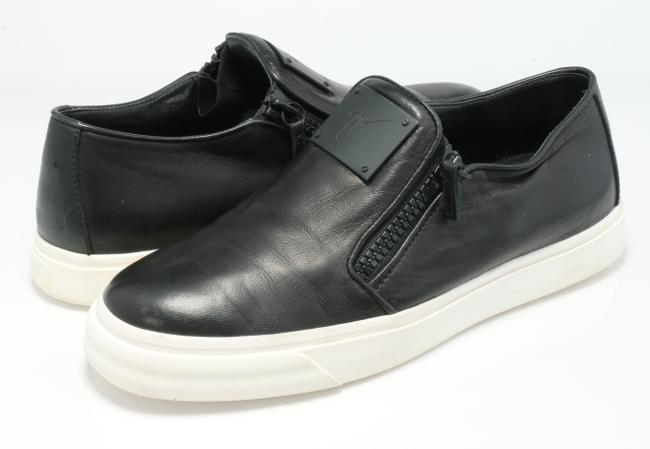 Item - Black London Double-zip Leather Low-top Sneakers Shoes