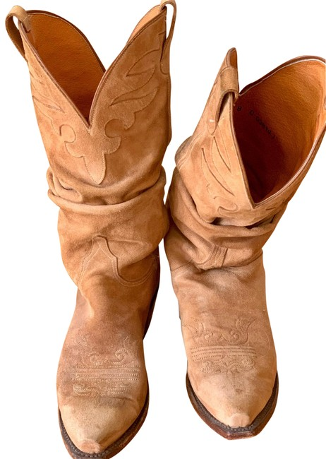 Item - Camel Slouch Cowboy Boots/Booties Size US 8 Regular (M, B)