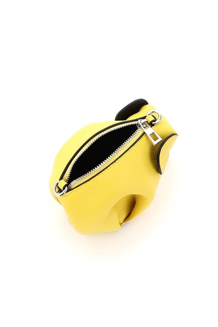 Loewe Elephant Pouch with Chain Yellow Leather Clutch Loewe Elephant Pouch with Chain Yellow Leather Clutch Image 4