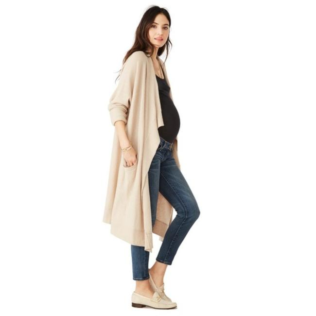 Item - Tan Cashmere Airplane Wheat Maternity Top Size OS (one size)