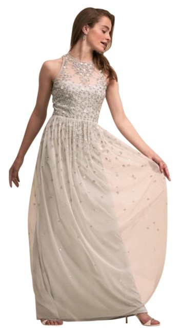 Item - Gray Bhldn Ginny Sequined Long Formal Dress Size 6 (S)