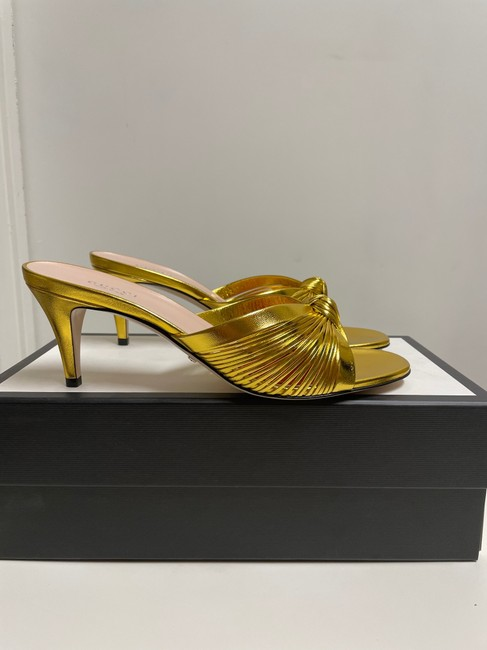 Item - Gold Crawford Knotted Metallic Leather Sandals Pumps Size EU 39 (Approx. US 9) Regular (M, B)