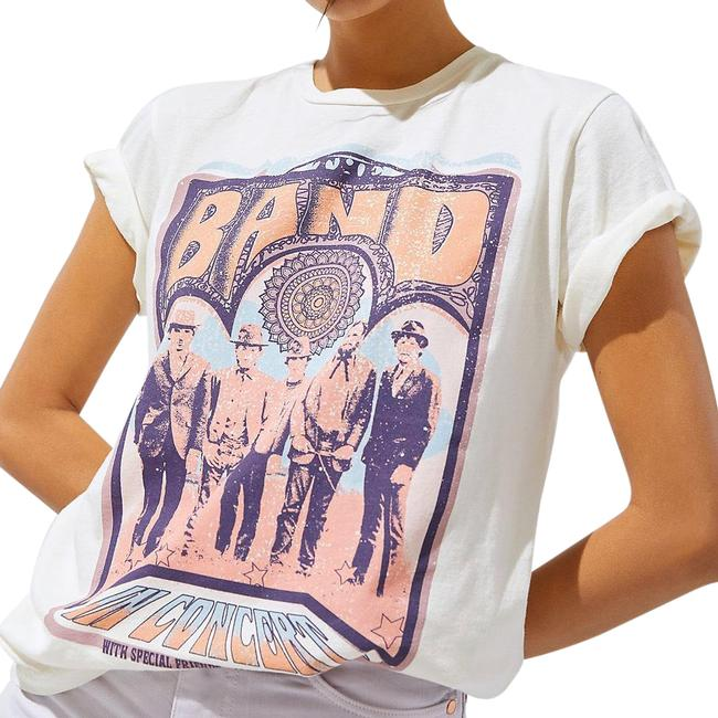 Anthropologie Ivory The Band Graphic Tee Shirt Size 16 (XL, Plus 0x) Anthropologie Ivory The Band Graphic Tee Shirt Size 16 (XL, Plus 0x) Image 1