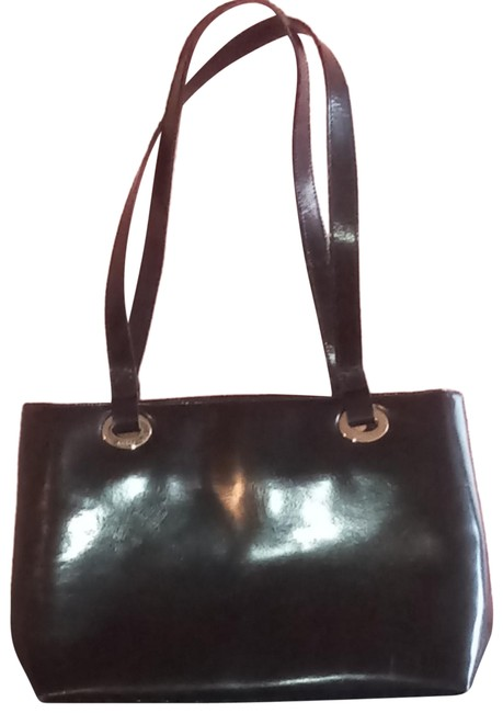 Item - Leather Black and Gold Vinyl Tote