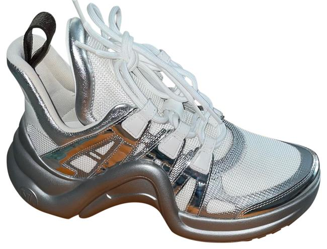 Item - Silver/White Archlight Sneakers Size US 8 Regular (M, B)