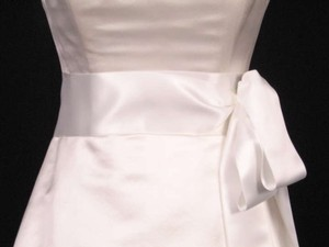 Bridal White Ribbon Sash 2 3/4
