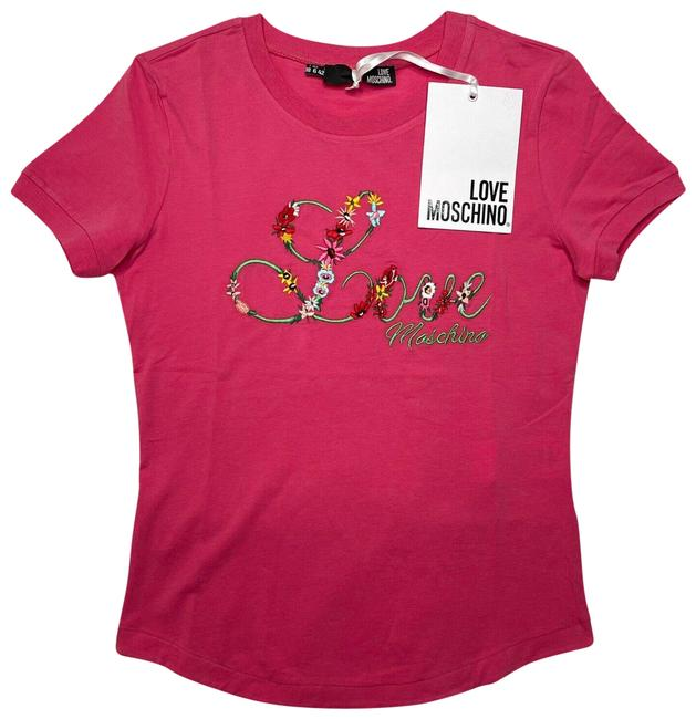 Item - Pink Love T-shirt New Sleeve Embroidered Tee Shirt Size 6 (S)