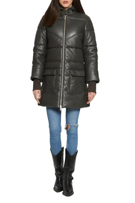 Item - Olive Robert Quilted Coat Jacket Size 2 (XS)