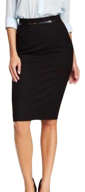 Item - Black Signature Belted Pencil Skirt Size 6 (S, 28)