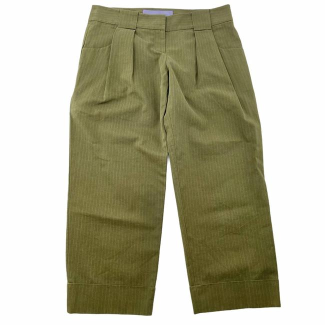 Item - Green Olive Pinstripe Trousers Pants Size 4 (S, 27)