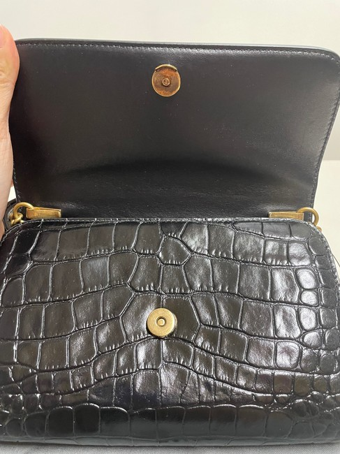 Balenciaga Croc-embossed Leather Wallet-on-chain Black Cross Body Bag Balenciaga Croc-embossed Leather Wallet-on-chain Black Cross Body Bag Image 7