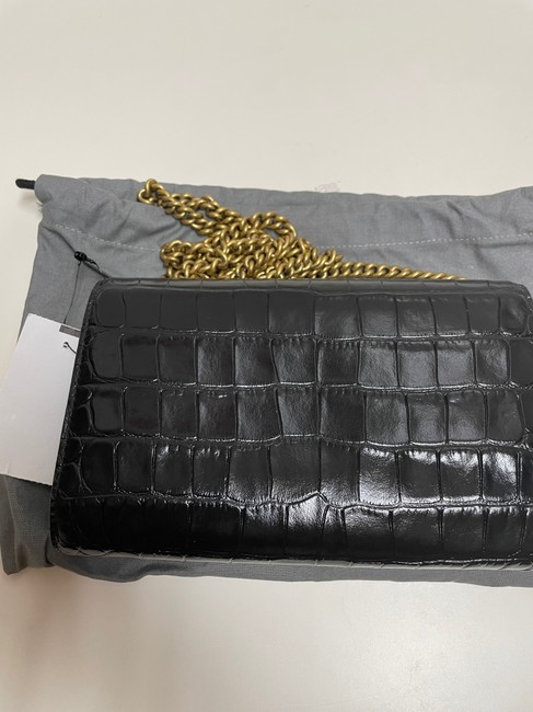 Balenciaga Croc-embossed Leather Wallet-on-chain Black Cross Body Bag Balenciaga Croc-embossed Leather Wallet-on-chain Black Cross Body Bag Image 10