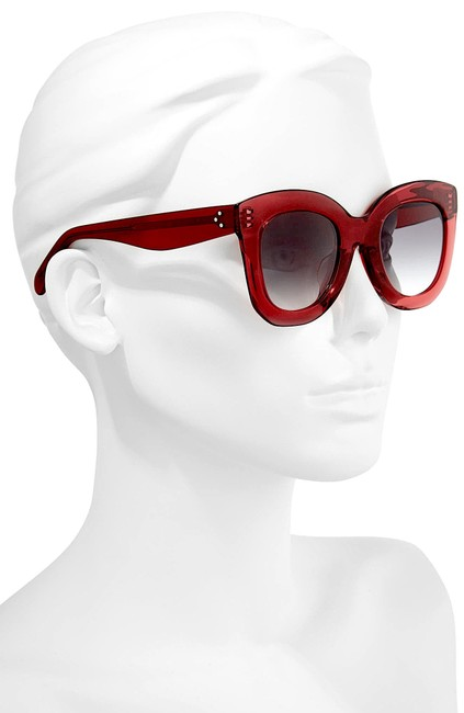 Item - Red New Special Fit 49mm Cat Eye Sunglasses