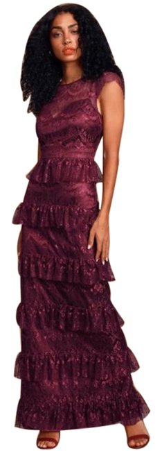 Item - Burgundy Romantic Daydreamer Tiered Maxi Long Formal Dress Size 6 (S)