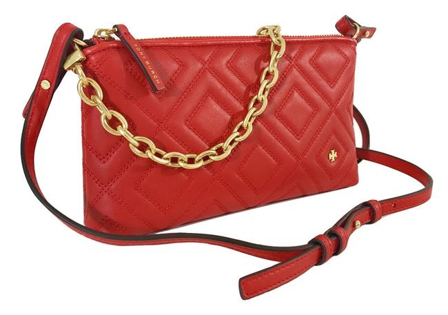 Item - Fleming Chain Exotic Red Leather Cross Body Bag