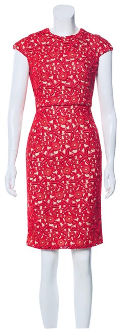 Item - Embroidered Lace Mid-length Cocktail Dress Size 2 (XS)