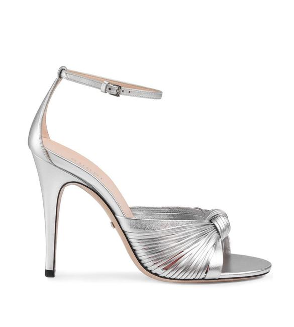 Item - Silver Crawford Knotted Metallic Leather Sandals Size EU 36.5 (Approx. US 6.5) Regular (M, B)