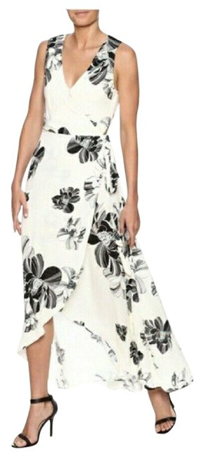 Item - Beige Dance & Marvel Floral Wrap Small Long Night Out Dress Size 4 (S)