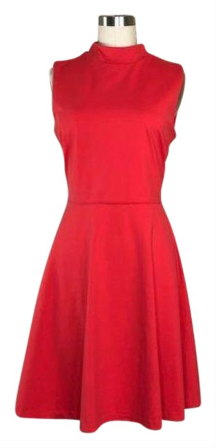 Item - Pink Mock Neck Swing Coral Short Casual Dress Size 8 (M)