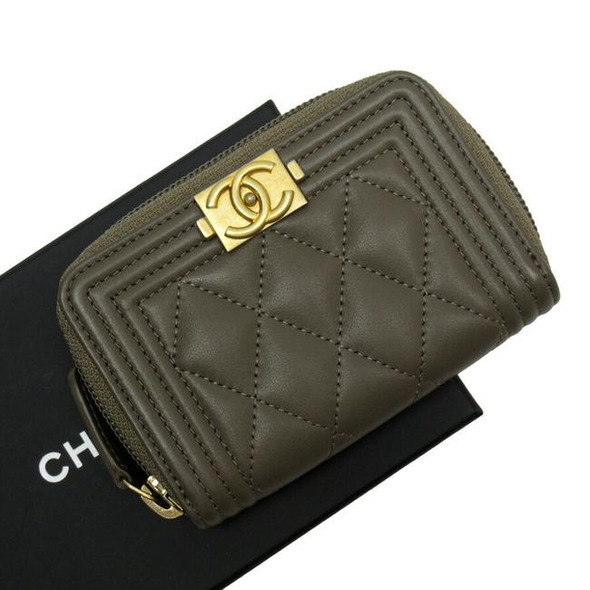 Item - Brown / Gold Case Coco Mark Leather Wallet